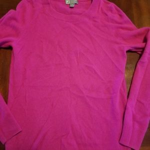 JCP cashmere pink sweater